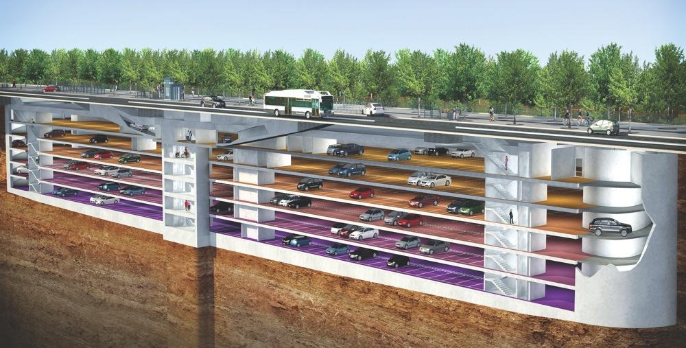Underground Parking Lot Cardinet Ckmy Architects